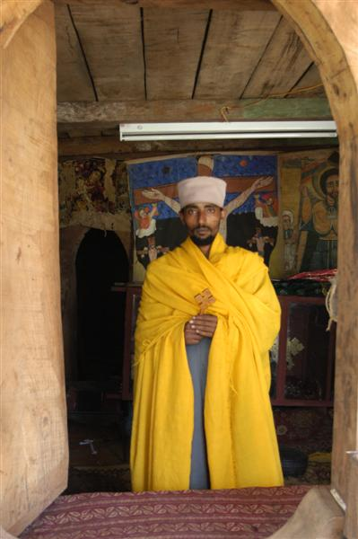Priest at Azuwa Maryam, Lake Tana, Ethiopia